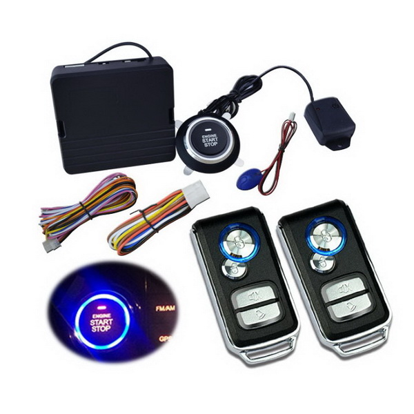 Car Alarm One Button Smart start system with vehicle gps locator