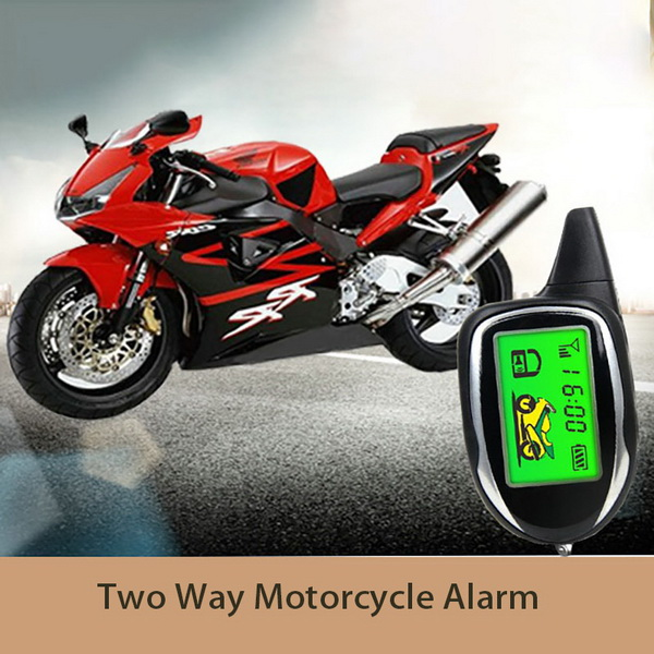 Two Way Remote Starter Motorcycle Security Alarm System W/LCD Screen