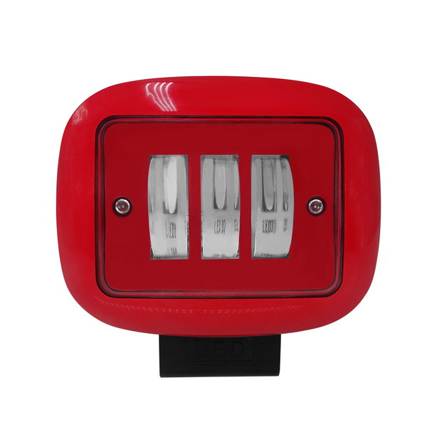 Car Red color square Led working lights